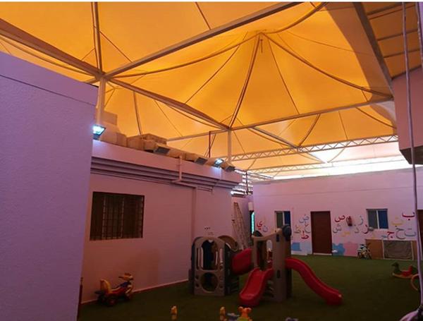 مظلات مدارس اهلية وحكومية في الدمام الشرقية